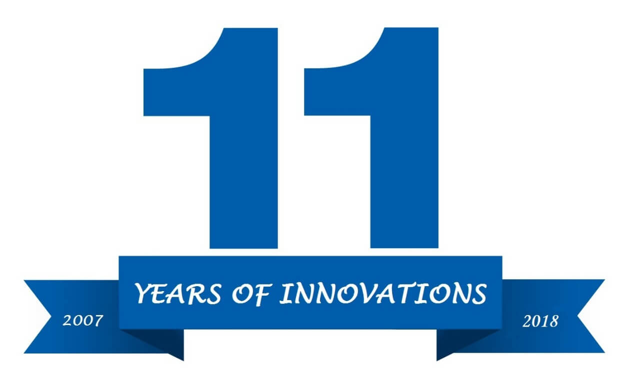11 YEARS OF INNOVATIONS